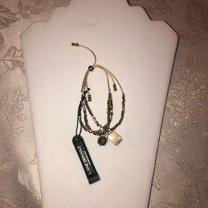 lane bryabt bracelet nwt gold tone adjustable